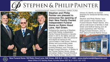 Painters Funeral Directors Advert