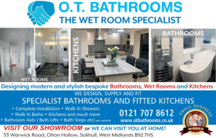 O T Bathrooms Ltd Advert