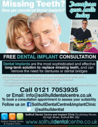 Solihull Dental Centre & Implant Clinic Advert