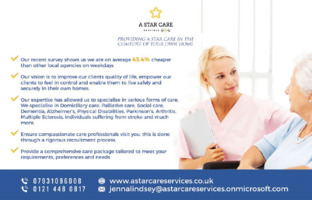 A Star Services Advert