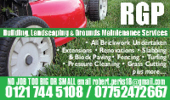 R G P All Building & Landscaping Advert
