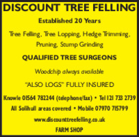 Discount Tree Felling Advert