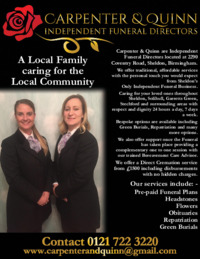Carpenter And Quinn Funeral Directors Ltd Advert