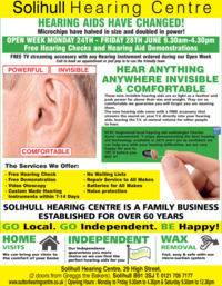 Solihull Hearing Centre Advert