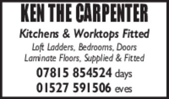Ken The Carpenter Advert