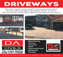 D A Civils Advert