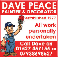 Dave Peace Painter & Decorator Advert