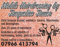 Jacqueline James Advert