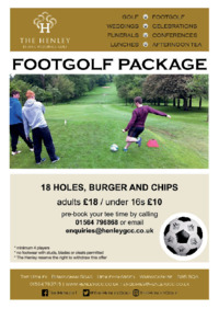 Henley Golf And Country Club Advert
