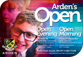 Arden School Advert