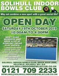 Solihull Indoor Bowls Club Advert