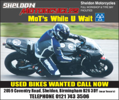 Escalmain Ltd t/as Sheldon Motorcycles Advert