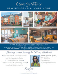 Sanders Senior Living Ltd Advert