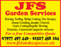 JFS Garden Services Advert