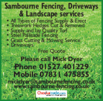 Sambourne Fencing Advert