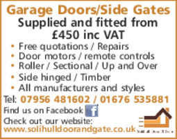 Solihull Door & Gate Advert