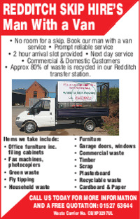 Redditch Skip Hire Ltd Advert