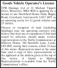 Tpr Haulage Ltd Advert
