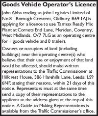 John Logistics Ltd Advert