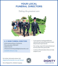 Droitwich Spa Funeral Service Advert