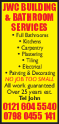 Jwc Building & Bathroom Services Advert