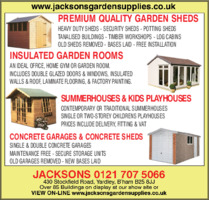Jacksons Garden Supplies Ltd Advert
