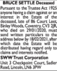 Sww Trust Corporation Advert