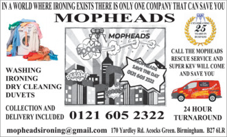 Mopheads Domestic Cleaning Agency Advert