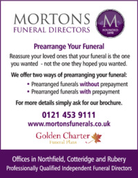 V Morton & Sons Advert