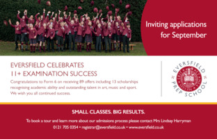 Eversfield School Advert