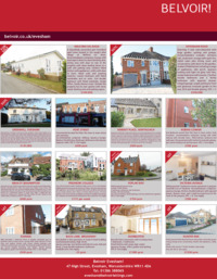 Belvoir The Lettings Specialist Advert