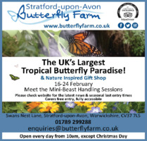 Stratford Butterfly Farm Ltd Advert