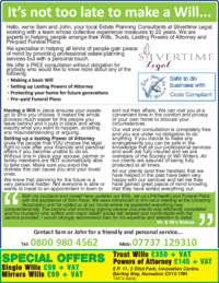 Silvertime Legal Advert