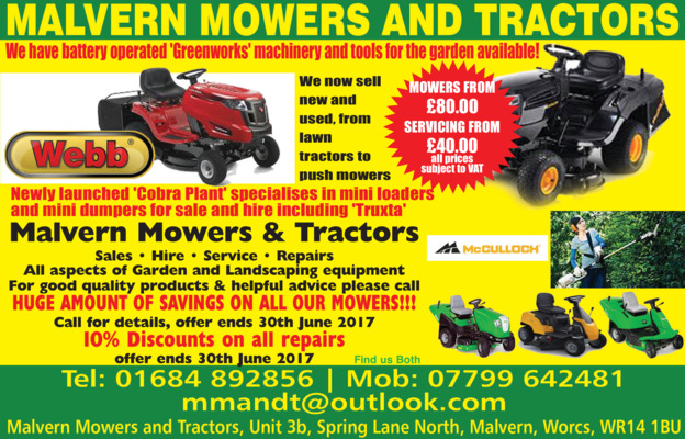 Cobra Plant Machinery Advert