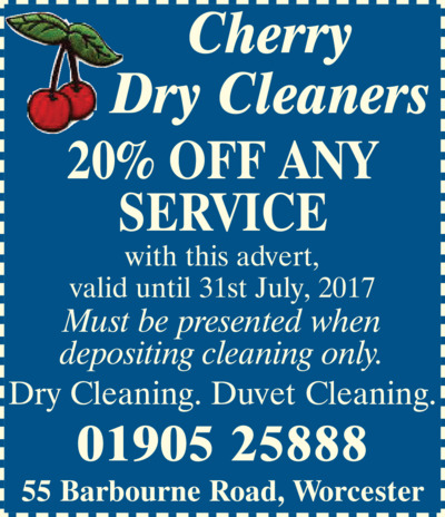 Cherry Dry Cleaners Advert