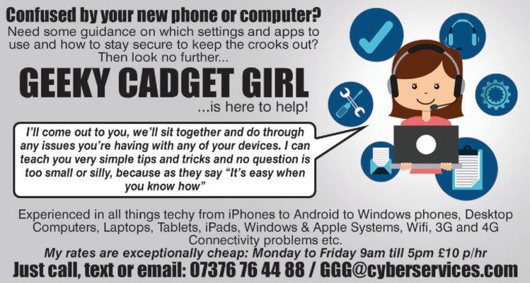 Geeky Gadget Girl Advert