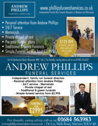 Andrew Phillips Funeral Services Advert