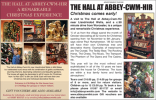 Abbey Cwm Hir Advert