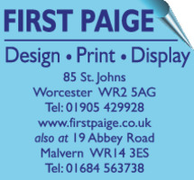 First Paige Advert