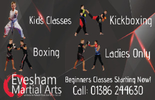 Evesham Martial Arts Advert