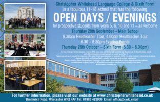 Christopher Whitehead Advert