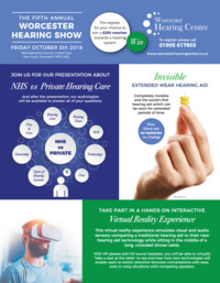Worcester Hearing Centre Ltd Advert