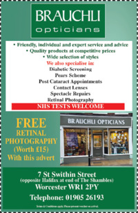 Brauchli Opticians Advert