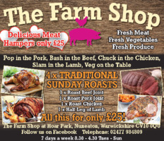 Farm Shop At Hoar Park Advert
