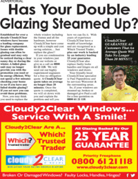 Cloudy 2 Clear Windows Advert