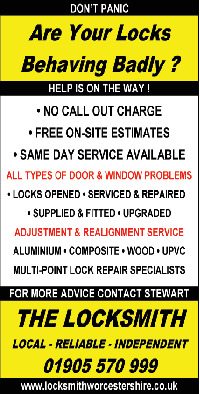 Sjm Locksmith Services Advert