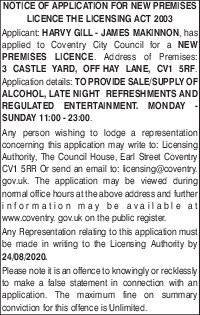 Castle Yard Advert